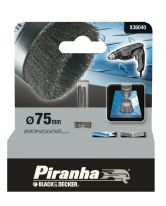 Piranha Crimped Steel Wire Wheel Brush for metal - 75mm